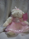 Cotton Candy plush 9inch white teddy bridsmaid/dancer pink.